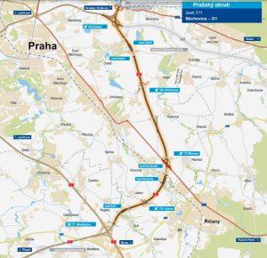 Pražský okruh, úsek 511 Modletice - Běchovice. Pramen: ŘSD