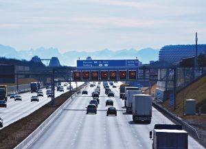 Inteligentní informační systém na německé dálnici. Pramen: Siemens