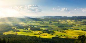 Tradiční osídlení v Bavorsku. Pramen: Siemens