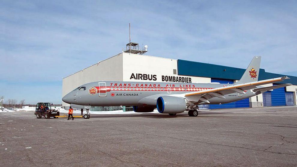Airbus A220-300 společnosti Air Canada v retro nátěru Trans-Canada Air Lines. Foto: Air Canada