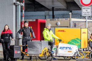 V cyklodepu na Těšnově operuje 7 logistických společností. Pramen: depot.bike