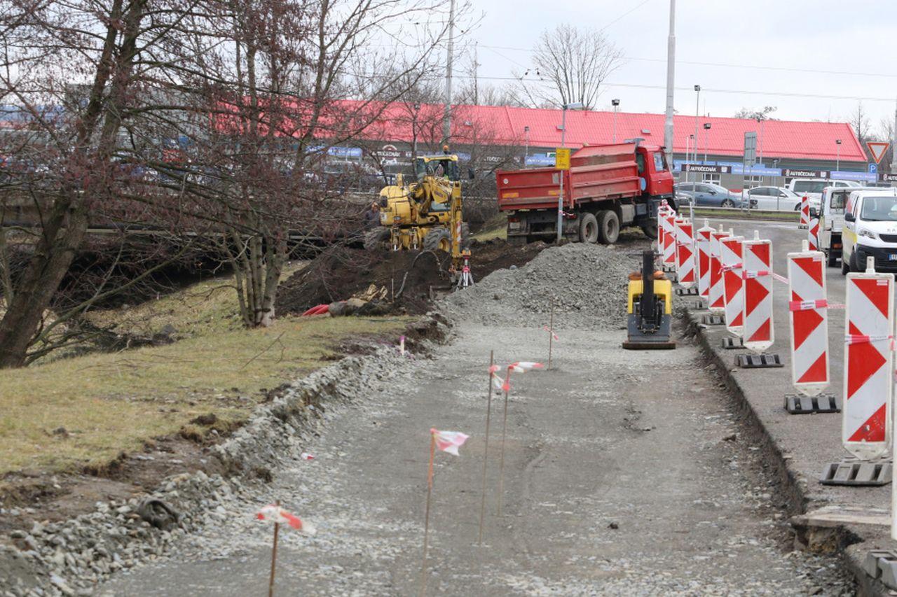 Stavba nové cyklostezky v Olomouci. Foto: Olomouc.eu