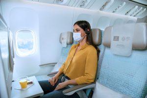 Volné sedačky na palubě Emirates. Foto: Emirates