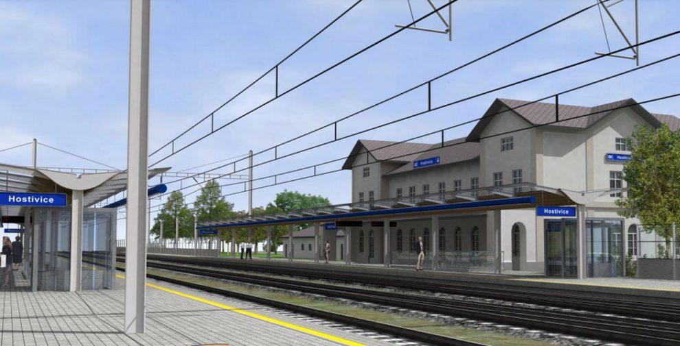 Vizualizace stanice Hostivice po modernizaci. Foto: Správa železnic