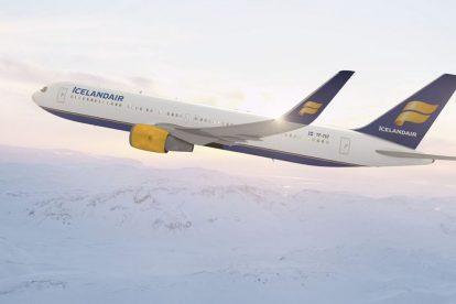 Boeing 767-300ER v Antarktidě. Foto: Icelandair
