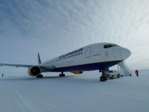 Přistání Boeing 767-300ER v Antarktidě. Foto: Icelandair