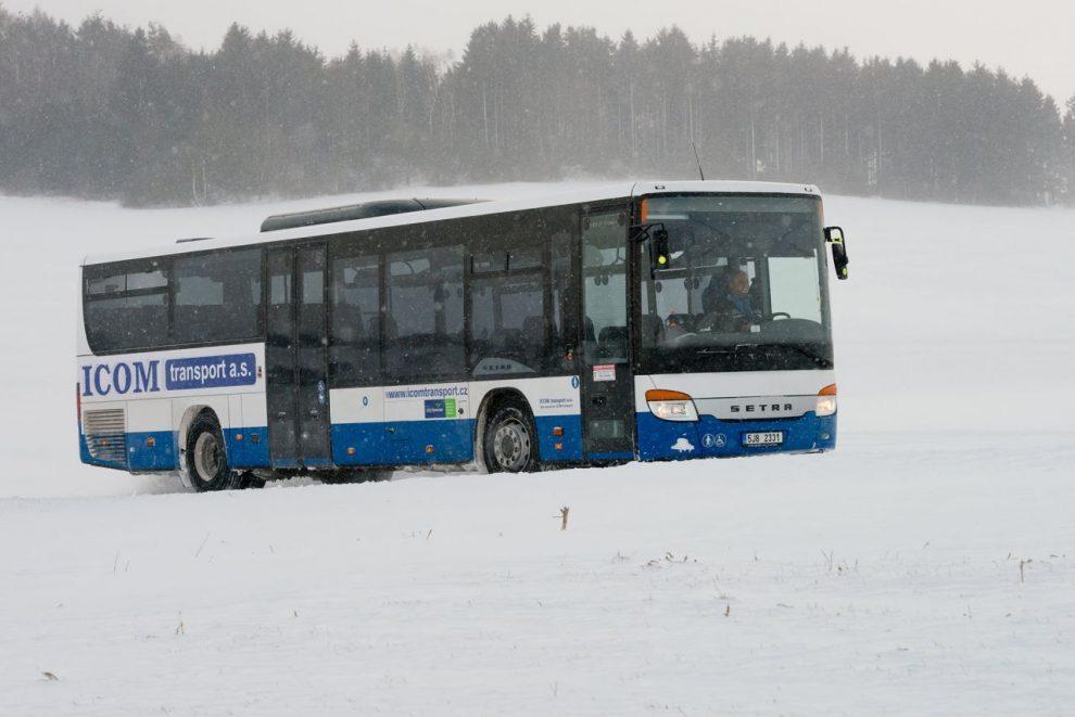 Autobus Setra společnosti Icom Transport na Vysočině. Foto: Icom Transport