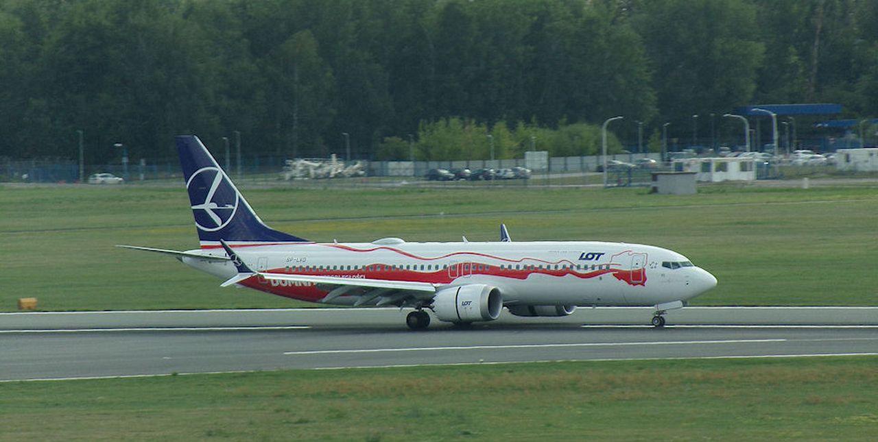 Boeing 737 MAX 8 ve Varšavě. Foto: Janusz Jakubowski / Flickr.com
