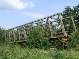 Starý provizorní most u Havlíčkova Brodu. Pramen: Správa železnic