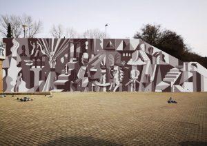 Návrh nové velkoformátové malby u stanice metra Vltavská. Foto: Praha 7