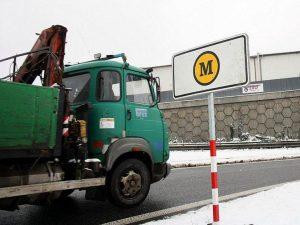 Nákladní auto před zpoplatněnou silnicí. Foto: Liberecký kraj