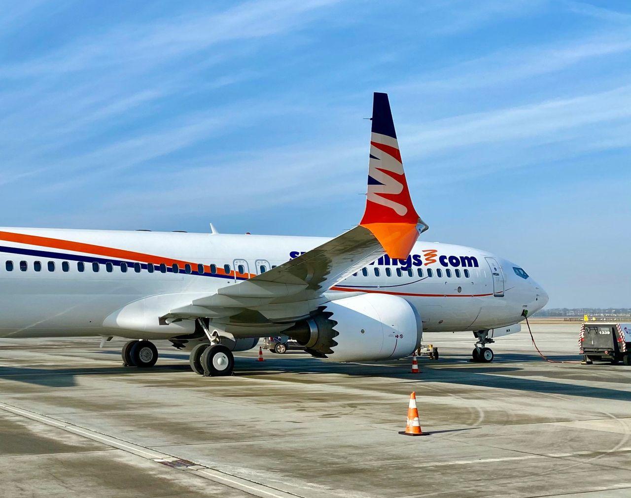 Boeing 737 MAX 8 registrace OK-SWA společnosti Smartwings před testovacím letem 25.3. 2021. Foto: Smartwings