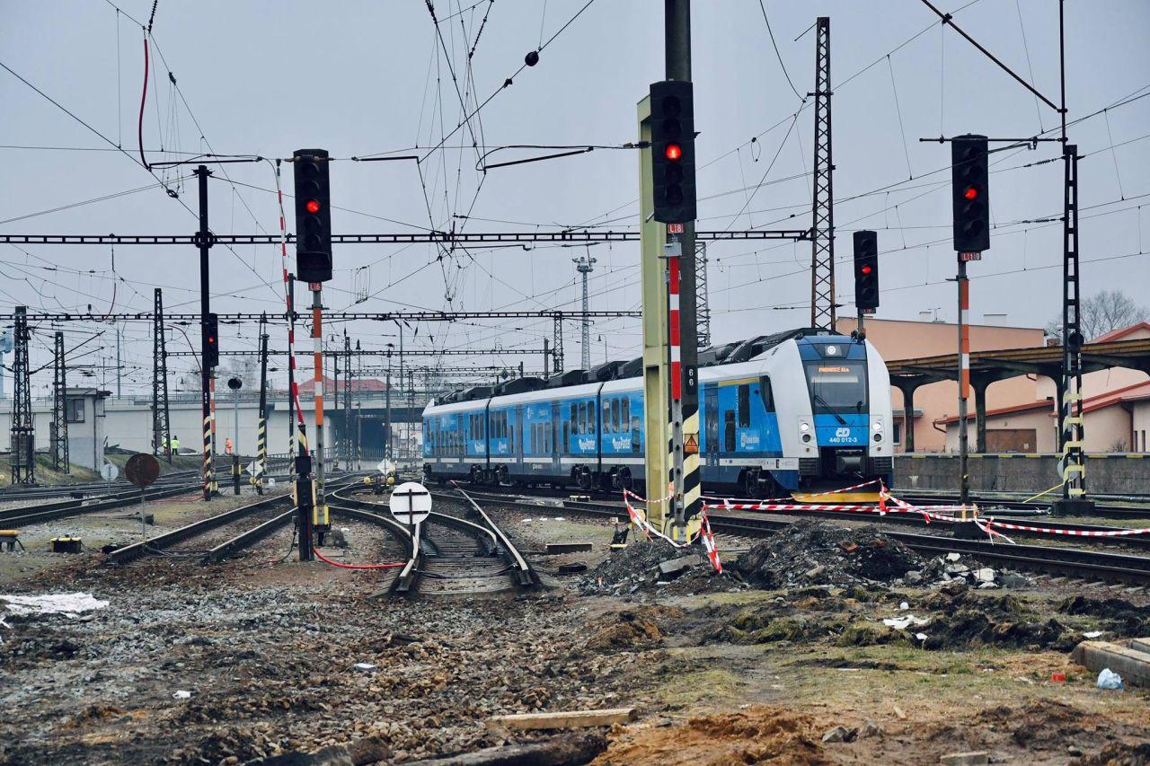 Rekonstrukce stanice Pardubice. Foto: Správa železnic