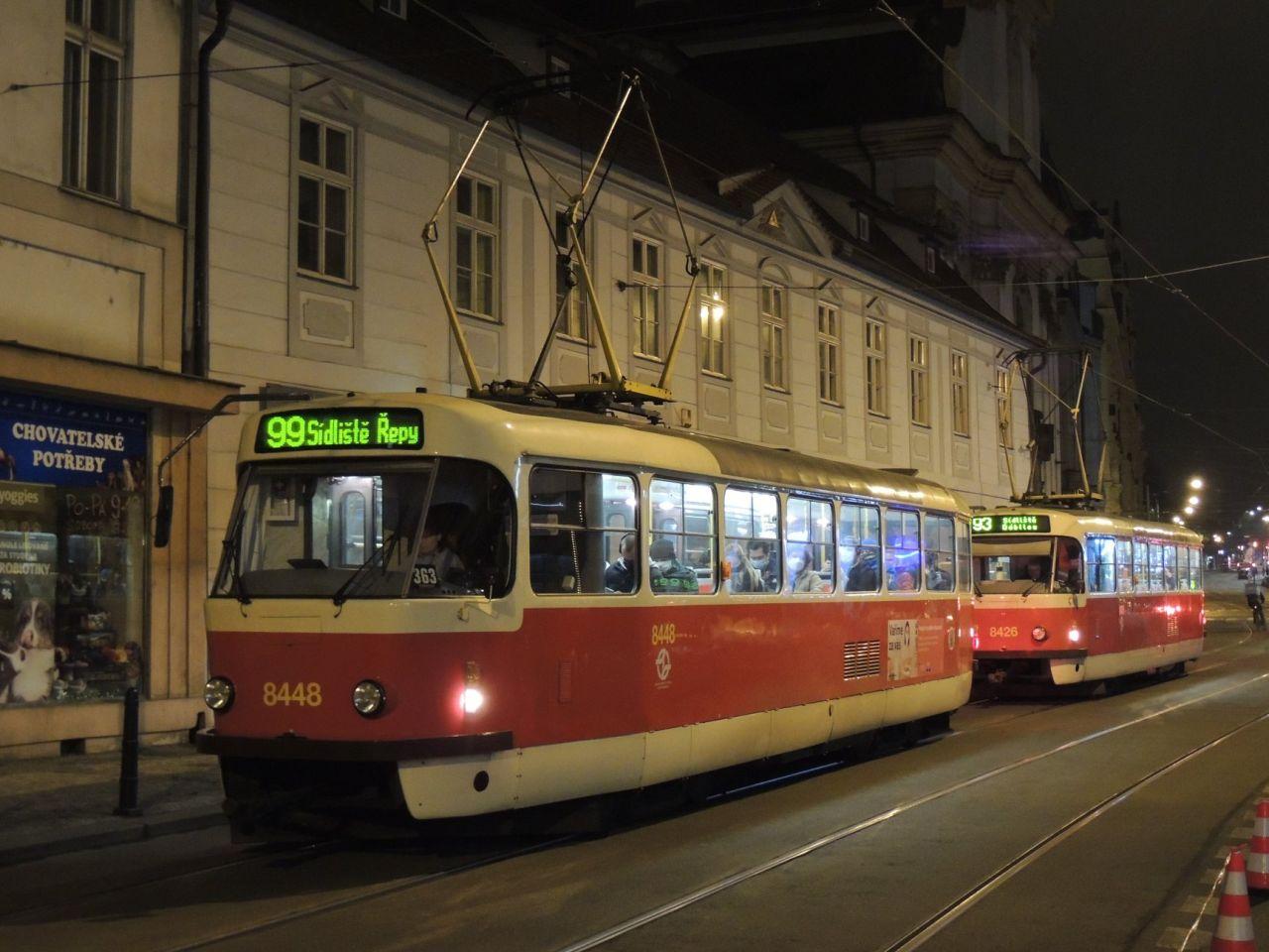 Tramvaj na noční lince 99. Foto: PID