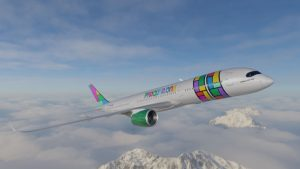 Vizualizace A350-900 v barvách společnosti PRAGUSA.One. Foto: Pragusa One