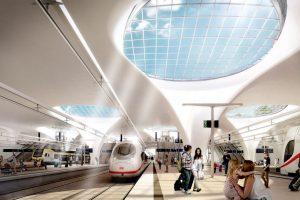 Vizualizace nového nádraží ve Stuttgartu. Foto: DB