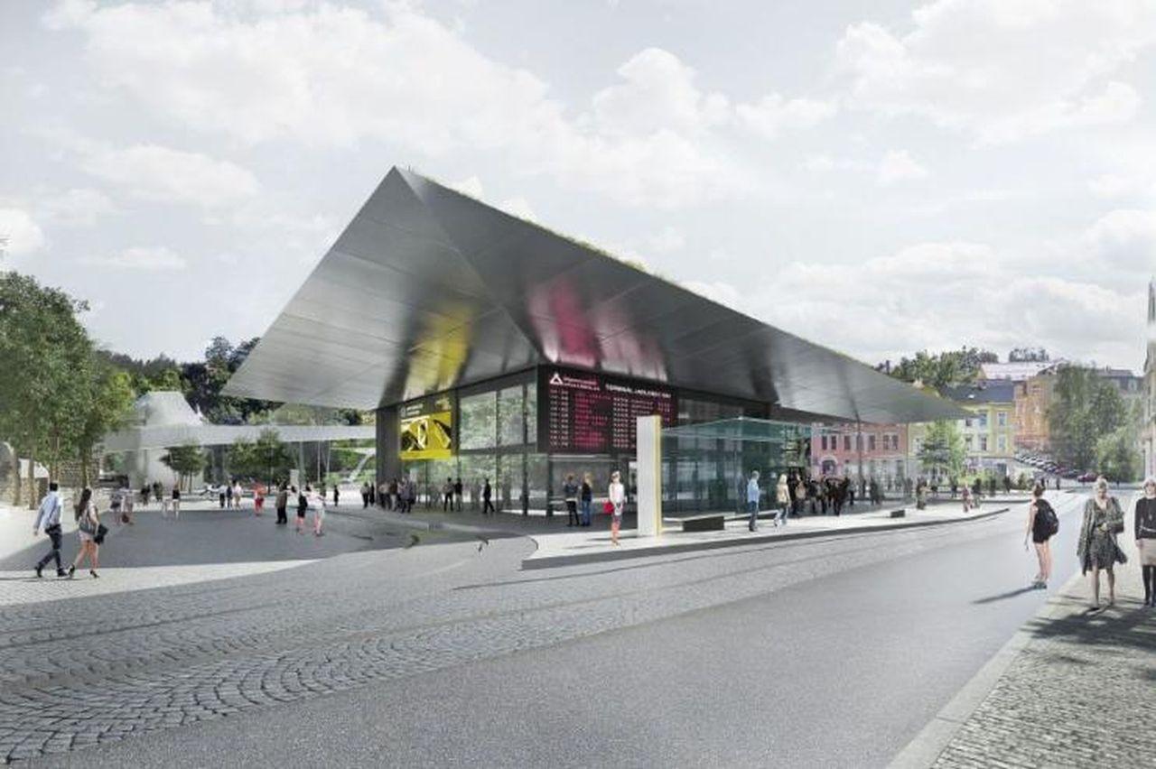 Návrh podoby terminálu veřejné dopravy v Jablonci nad Nisou. Foto: Domyjinak.cz