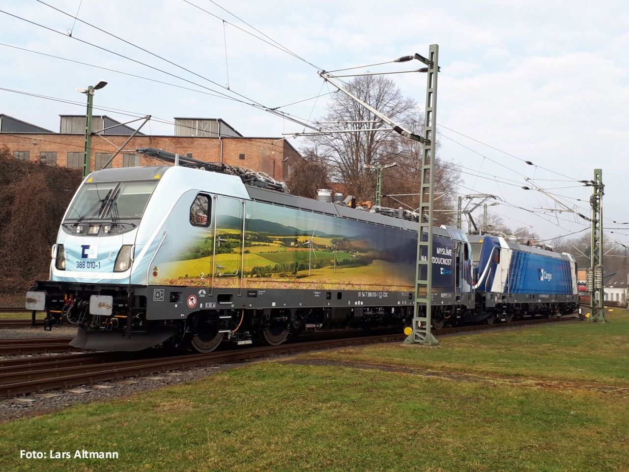 Poslední lokomotivy TRAXX 3 MS pro ČD Cargo. Foto: Lars Altmann/ Twitter ČD Cargo
