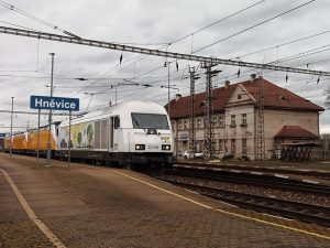 Přeprava lokomotiv Bombardier TRAXX MS3 pro RegioJet. Foto: RailTransport-Stift