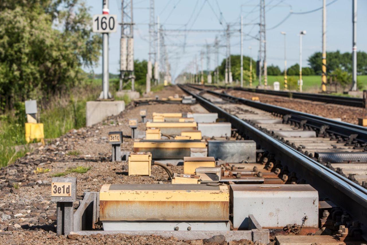Modernizace koridoru u Velimi. Foto: Správa železnic