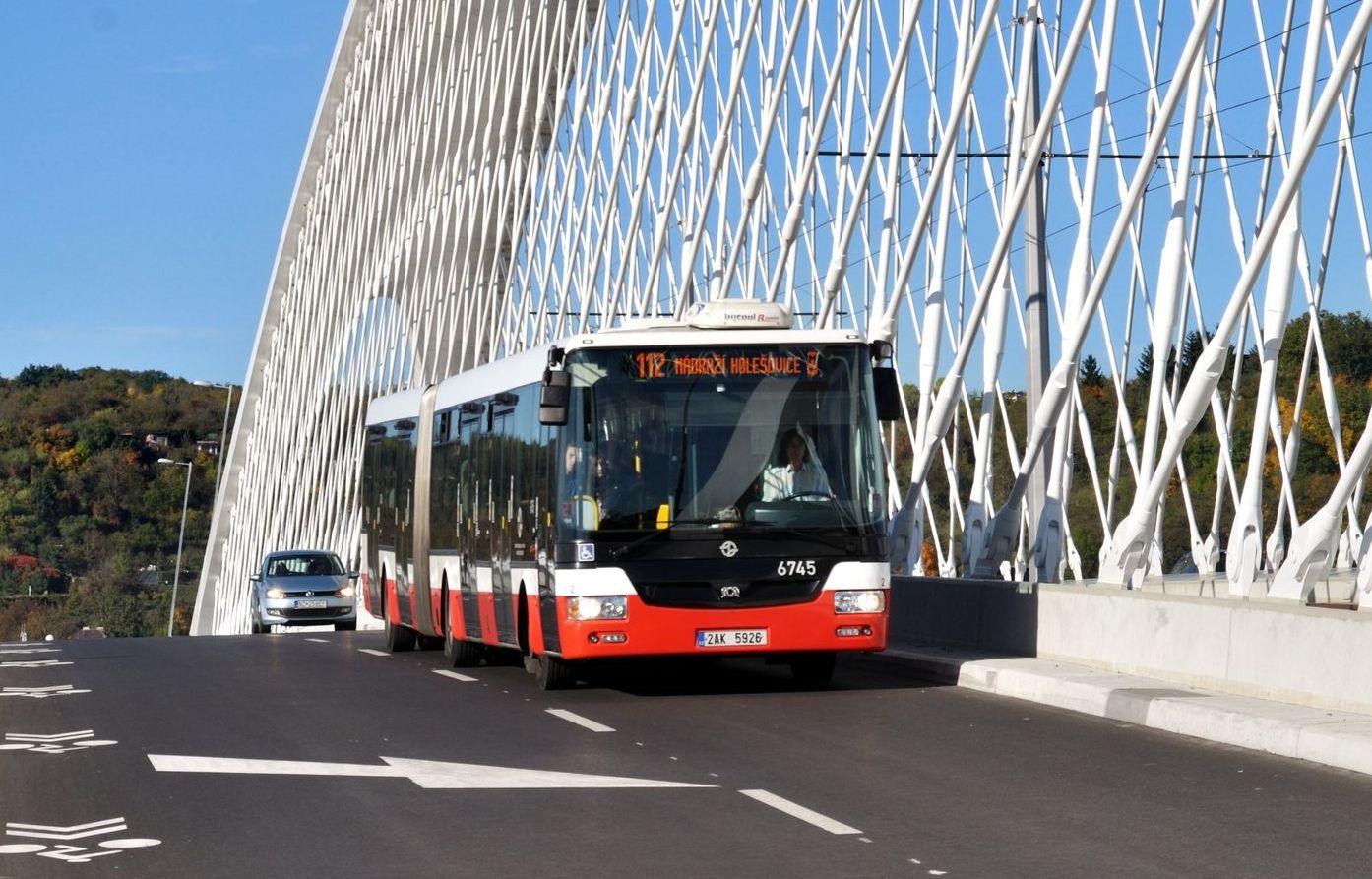 Autobusová linka 112 v Praze. Pramen: ROPID