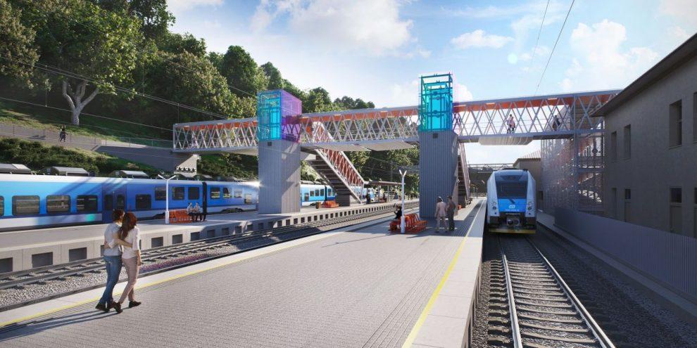 Vizualizace nové podoby stanice Adamov. Foto: Správa železnic