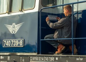 Lokomotiva 740.739 společnosti WYNX Pool. Foto: Dalibor Palko