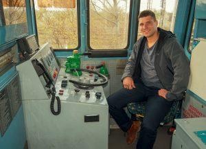 Stanoviště strojvedoucího lokomotivy 740.739 společnosti WYNX Pool a spolumajitel firmy Jan Paroubek. Foto: Dalibor Palko