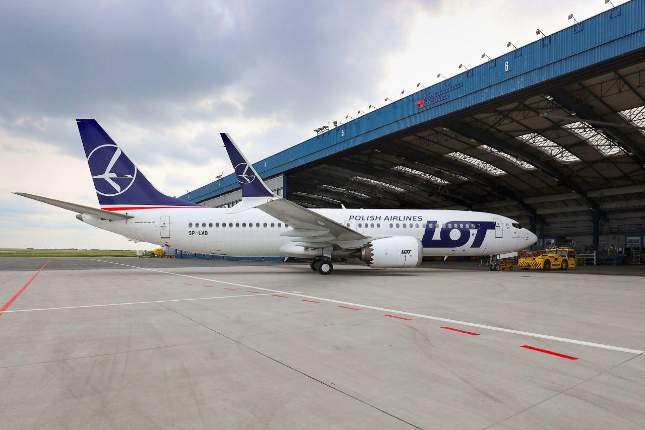 Boeing 737 MAX 8 společnosti LOT v péči Czech Airlines Technics. Foto: CSAT