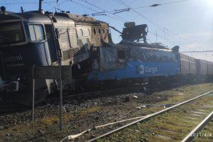 Srážka nákladních vlaků ve stanici Světec. Foto: Drážní inspekce