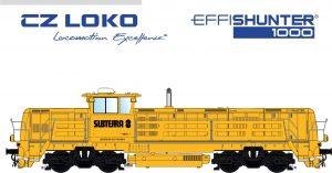 EffiShunter 1000 v barvách Subterry. Pramen: CZ LOKO