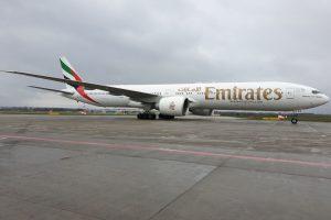 Boeing 777-300ER společnosti Emirates v Praze. Foto: Emirates SkyCargo