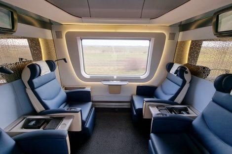 Oddíl 1+ ve vagonu společnosti MÁV-Start. Pramen: MÁV