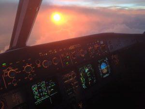Výhled z letadla vyměnil Aleš Tondl za výhled na trať. Autor: Aleš Tondl