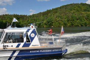 Plavidla Státní plavební správy na Slapech. Pramen: MDČR