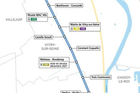 Trasa nové tramvajové trati Porte de Choisy - Orly. Foto: Île-de-France