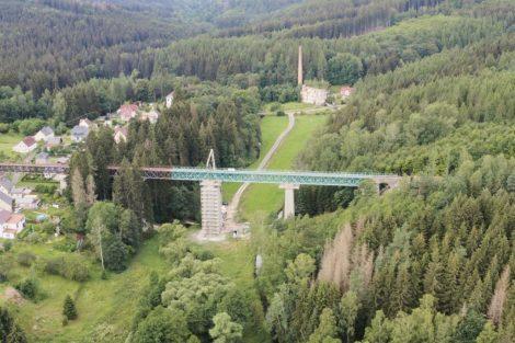 Oprava Vilémovského viaduktu. Foto: Správa železnic