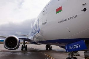 Boeing 737 MAX 8 v barvách Belavie. Foto: Belavia