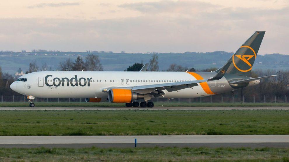 Boeing 767-300 společnosti Condor v Ostravě. Foto: Radim Koblížka / LKMT Spotters