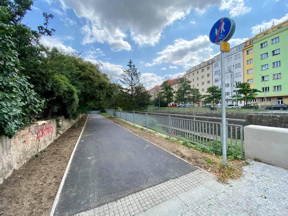 Cyklostezka A26 v úseku Zenklova — U Rokytky, Foto: Martin Jedlička /FB
