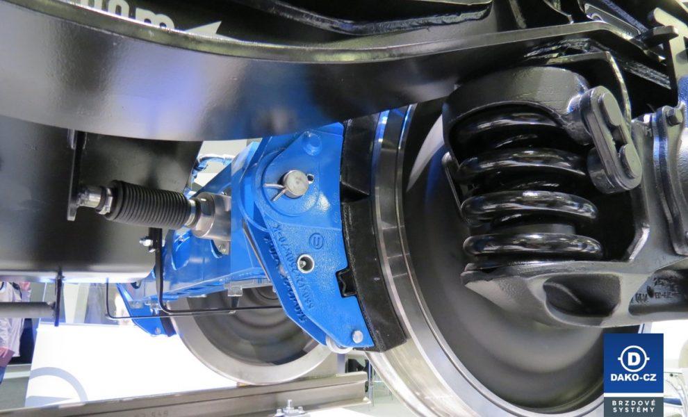 Brzdový systém kolejového vozidla. Foto: Dako-CZ