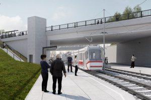 Vizualizace podoby tramvajové trati na kampus u zastávky Osová. Foto: DPMB