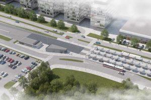 Konečná tramvajové trati k univerzitnímu kampusu. Foto: DPMB