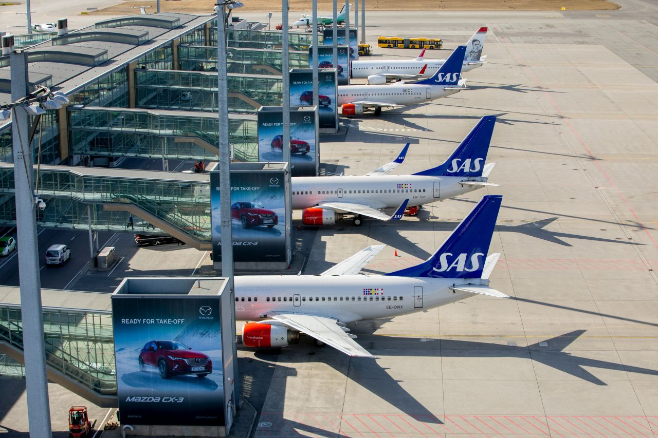 Letiště v Oslu. Foto: Avinor - Espen Solli