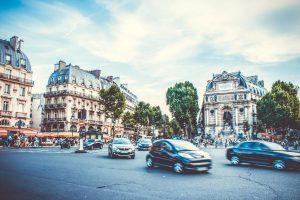 Auta v Paříží. Foto: Transport and Environment