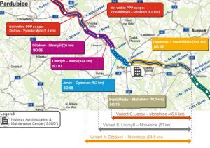 Mapa úseků D35 pro stavbu pomocí PPP. Foto: MD