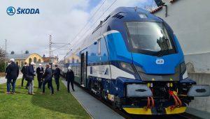 Souprava push-pull od Škody Transportation pro Moravskoslezský kraj. Pramen: Škoda Transportation