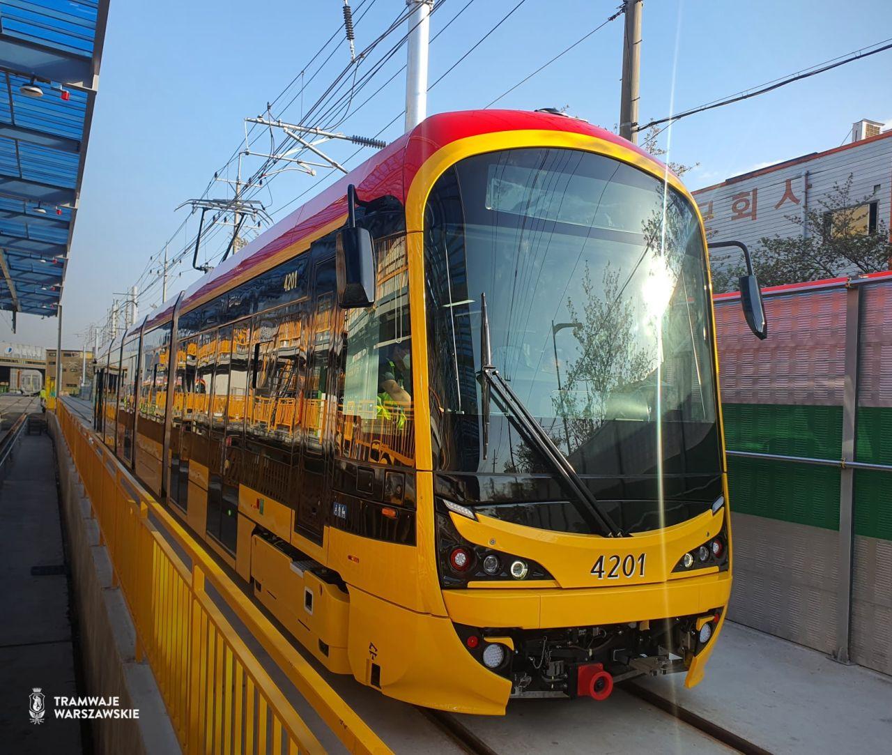 Tramvaj Hyundai Rotem pro Varšavu. Foto: Tramwaje Warszawskie