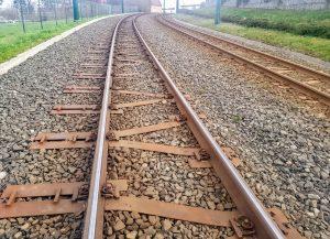 Tramvajová trať Liberec - Jablonec nad Nisou u Nové Rudy připravená na změnu rozchodu. Foto: Jan Sůra / Zdopravy.cz