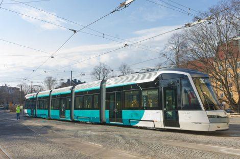 Nová tramvaj Škoda ForCity Smart Artic XL. Foto: Miska Engström